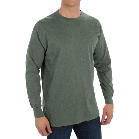 Specially made Cotton Blend Crew Shirt - Long Sleeve (For Men)