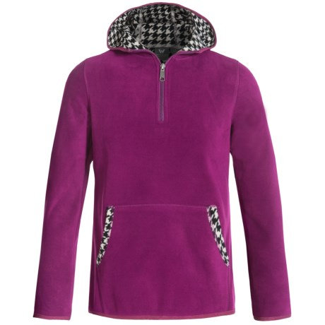 White Sierra Alpha Tek Fleece Hoodie - Zip Neck (For Little and Big Girls)