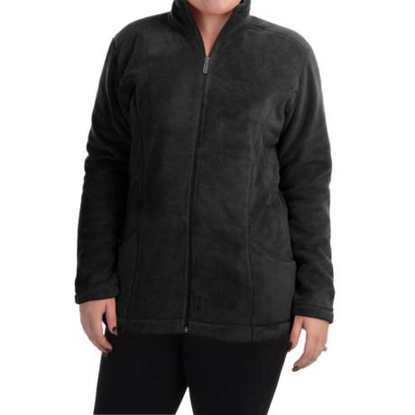 White Sierra Cozy Fleece Jacket (For Plus Size Women)