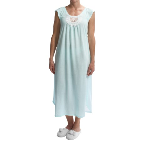 Carole Hochman Lace Trim Nightgown - Short Sleeve (For Women)