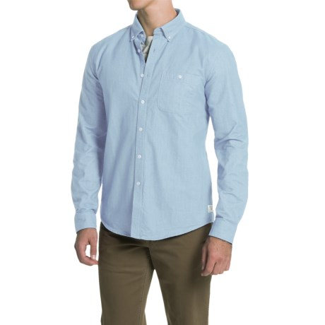 Barbour International Clay Chambray Shirt - Button Front, Long Sleeve (For Men)