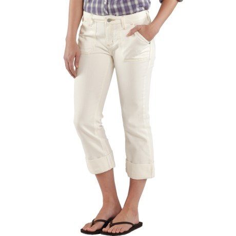 Carhartt Curvy Fit Tomboy Capris - Stretch Denim, Mid Rise (For Women)