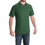 Barbour Tartan Cotton Pique Polo Shirt - Short Sleeve (For Men)