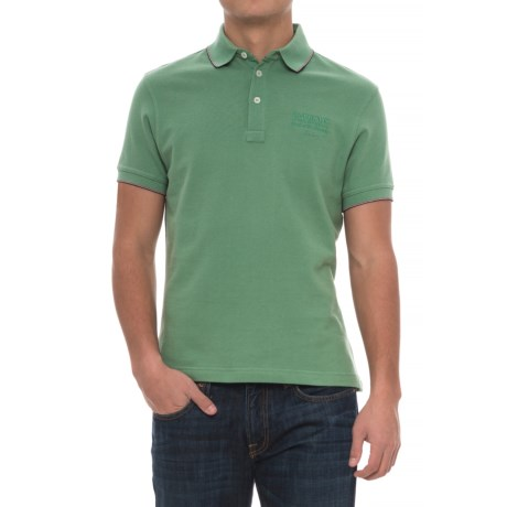 Barbour Cotton Polo Shirt - Short Sleeve (For Men)