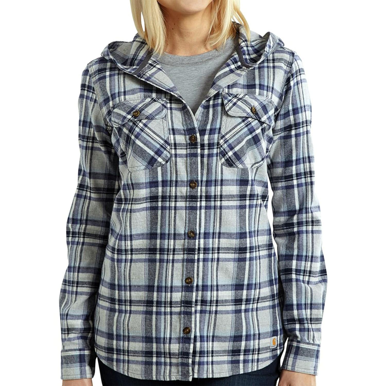 Hooded Flannel Jacket Women S