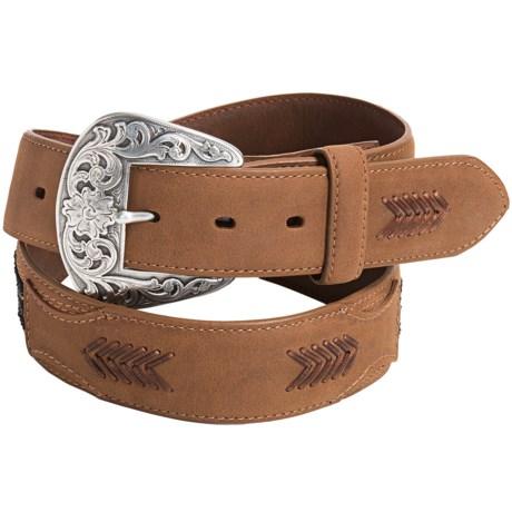Roper Beaded Leather Belt (For Men)