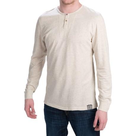 Barbour International Cotton Pique Henley Shirt - Lightweight, Long Sleeve (For Men)