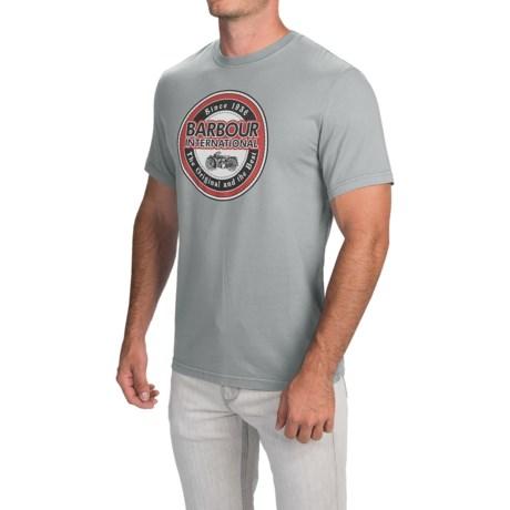 Barbour Mens Printed Cotton T-Shirt - Short Sleeve (For Men)