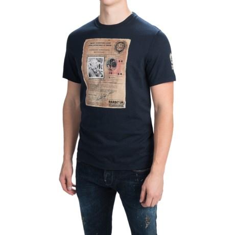 Barbour Cotton Knit T-Shirt - Short Sleeve (For Men)