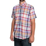 Barbour Fred Madras Check Shirt - Tailored Fit, Short Sleeve (For Men)