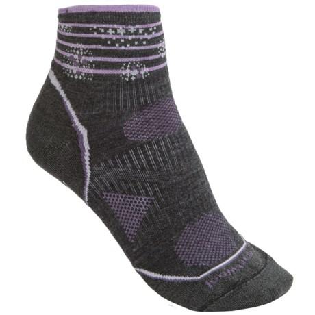 SmartWool PhD V2 Outdoor Ultralight Pattern Mini Socks - Merino Wool Blend, Ankle (For Women)