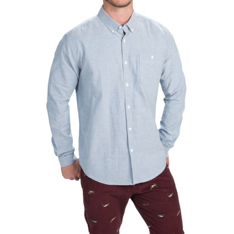 Barbour Collared Cotton Shirt with Pocket - Long Sleeve (For Men)