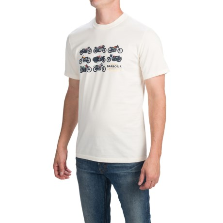Barbour Printed Cotton T-Shirt - Short Sleeve (For Men)