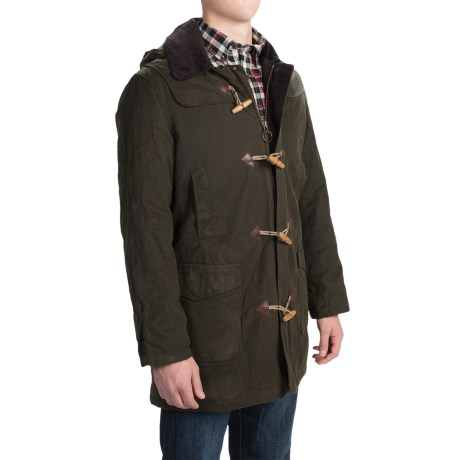 Black Friday|barbour waxed cotton duffle coat staff discount