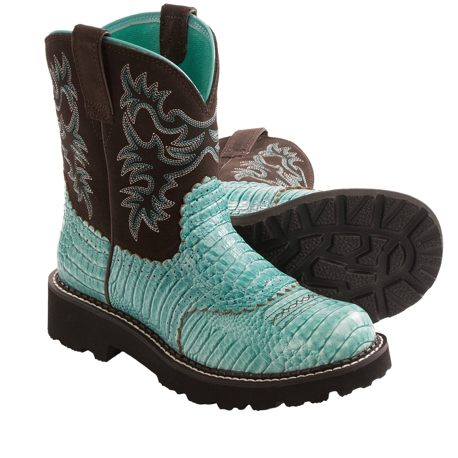 Ariat Fatbaby Gator Print Cowboy Boots (For Women) 8982R ...