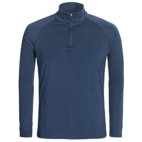 super.natural Base Top 175- Merino Wool Blend, Zip Neck, Long Sleeves (For Men)