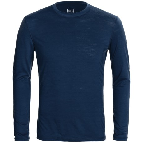 super.natural Base Top 140 - Merino Wool Blend, Long Sleeve (For Men)