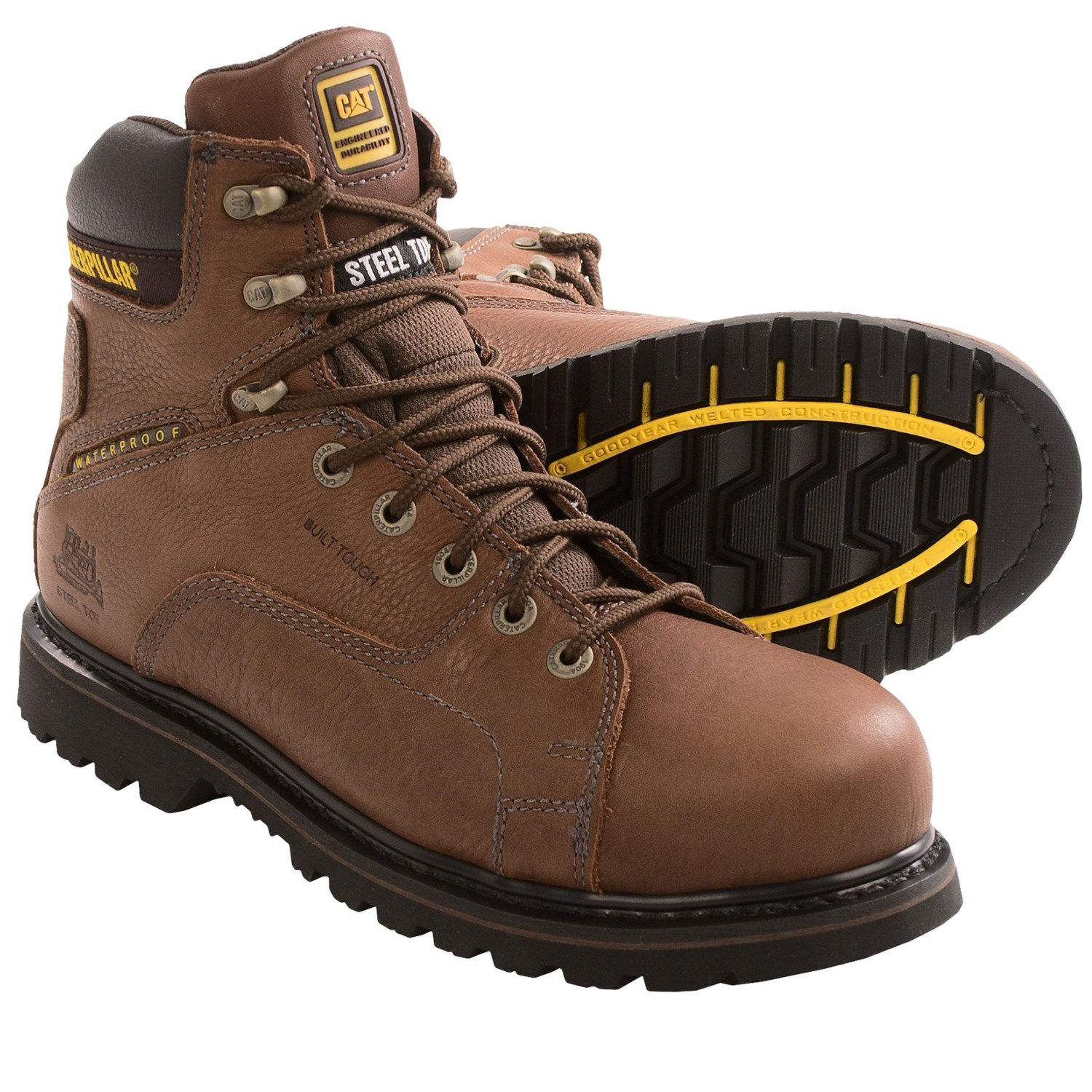 Caterpillar Levy Work Boots (For Men) 8994W - Save 32%