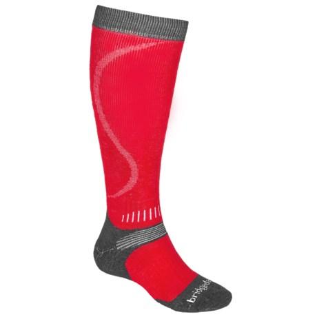 Bridgedale All Mountain Snowboard Socks - Merino Wool, Over the Calf (For Men)