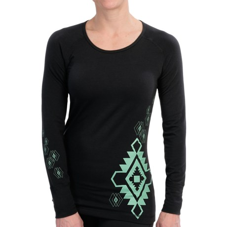 Hot Chillys MTF4000 Gods Eye Print Base Layer Top - Midweight, Scoop Neck, Long Sleeve (For Women)