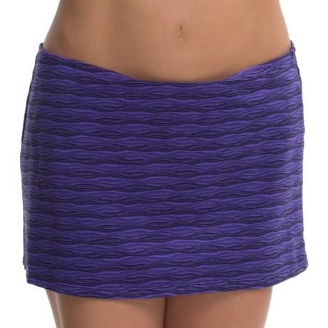 Aqua Soleil Textured Cover-Up Skirt (For Women)