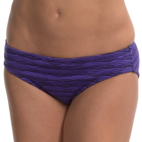 Aqua Soleil Textured Bikini Bottoms - Low Rise (For Women)