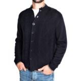 Toscano Diamond Cable Cardigan Sweater - Merino Wool (For Men)
