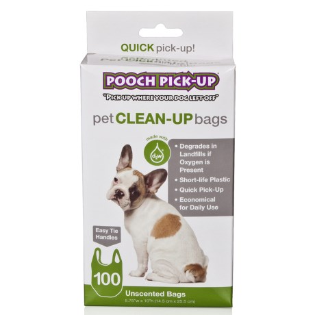 Pooch Pick-Up Bags - DEGRADABLE - 100-Pack