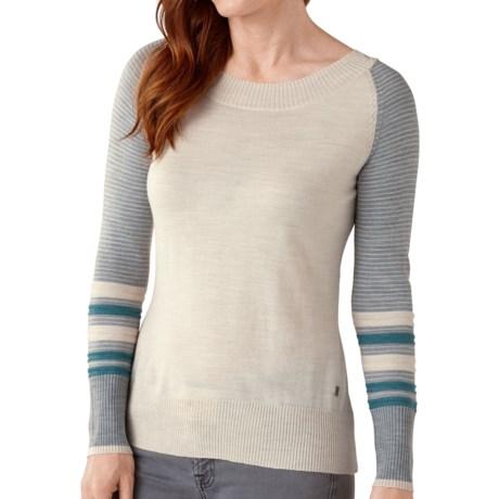 SmartWool Lightweight Stripe Sweater - Merino Wool, Crew Neck (For Women)