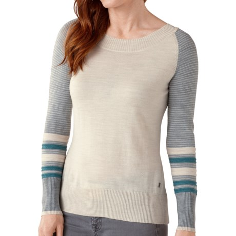 SmartWool Lightweight Stripe Sweater - Merino Wool, Crew Neck (For Women)