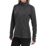 Avalanche Twist Pullover Shirt - Zip Neck, Long Sleeve (For Women)
