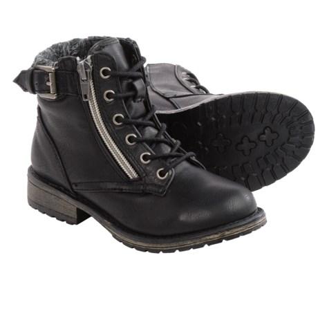 Steve Madden Bucklee Boots (For Big Girls)