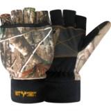 Jacob Ash Hot Shot Fingerless Gloves with Pop-Top Mitten (For Men and Women)