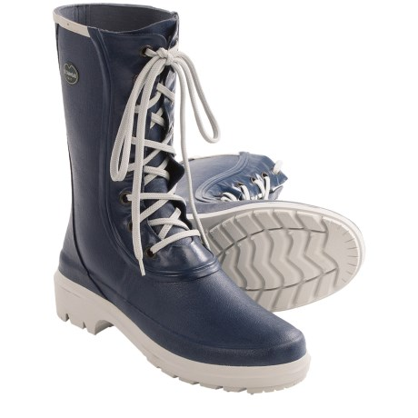 Le Chameau Saiga Lace-Up Rain Boots - Waterproof (For Women)