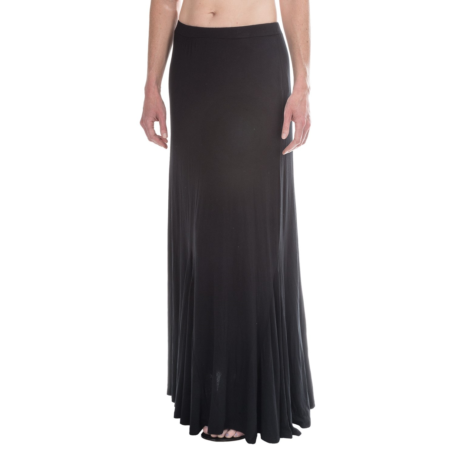 stretchy knit maxi skirt for save 61
