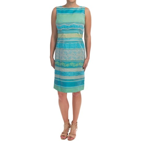Chetta B Jacquard Sheath Dress - Sleeveless (For Women)