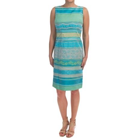 Chetta B Jacquard Sheath Dress - Sleeveless (For Women)