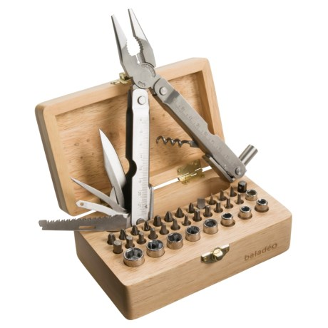 Baladeo 43 Function Multi Tool with Wooden Storage Box