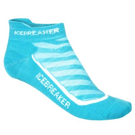 Icebreaker Run Ultralight Micro Socks - Merino Wool, Below the Ankle (For Women)