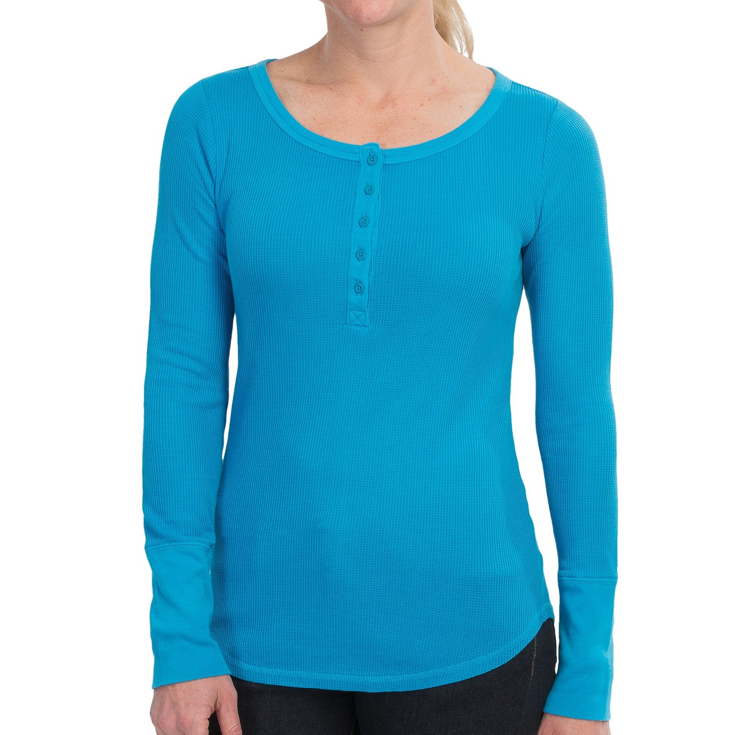 thermal waffle henley shirt for women 9081a save 60