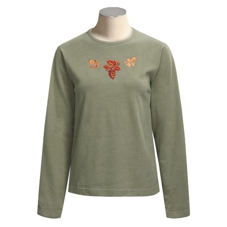 Woolrich Embroidered Shirt - Long Sleeve (For Women)