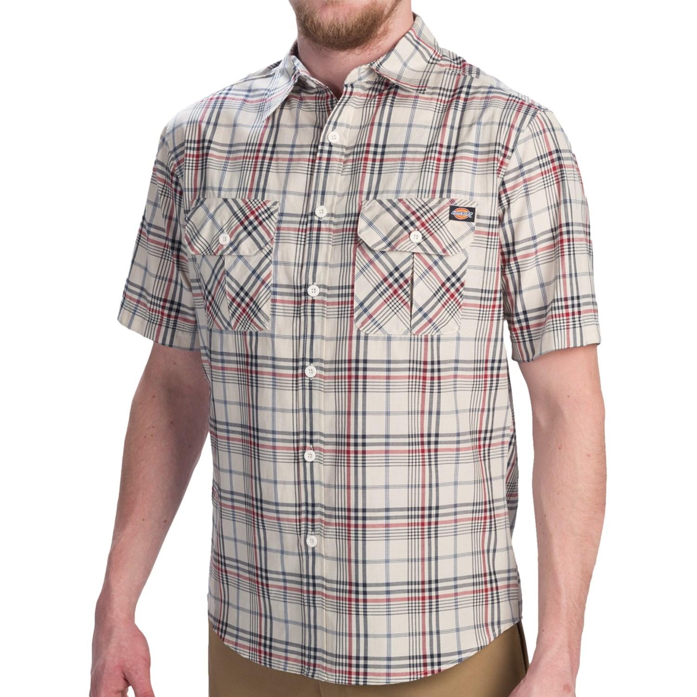 Dickies plaid shirt for men 9087p save 74 for Dickies short sleeve plaid shirt