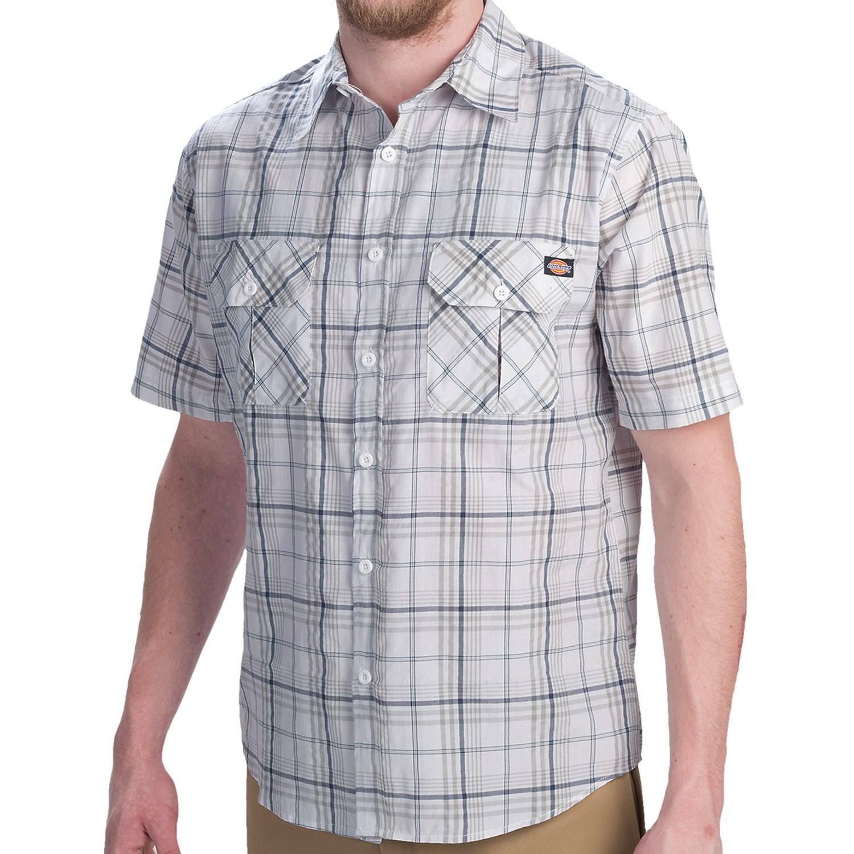 Dickies plaid shirt for men 9087p save 66 for Dickies short sleeve plaid shirt