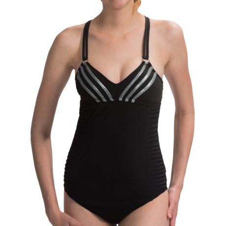 Adidas Pleat of Dreams Cross-Back Swimsuit (For Women)