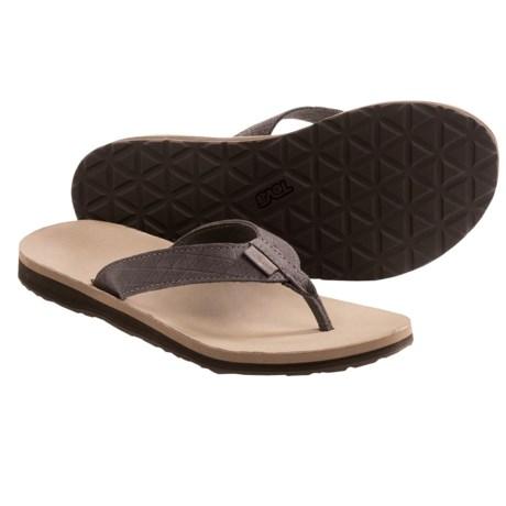 Teva Classic Flip Leather Diamond Sandals (For Women)