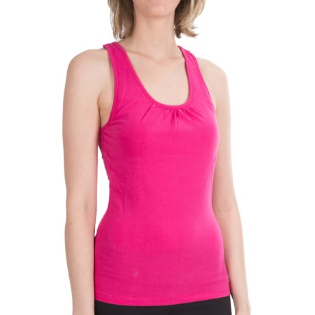 Satva Kalima Cross-Back Tank Top - Organic Cotton, Built-In Bra (For Women)