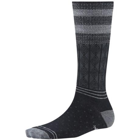 SmartWool Metallic Stripe Cable Crew Socks - Merino Wool, Lightweight (For Women)