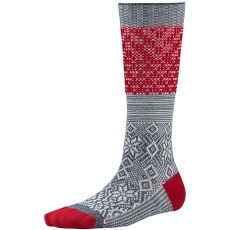 SmartWool Snowflake Flurry Socks - Merino Wool, Over the Calf (For Women)