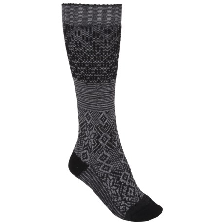 SmartWool Snowflake Flurry Socks - Merino Wool, Over the Calf (For Women)