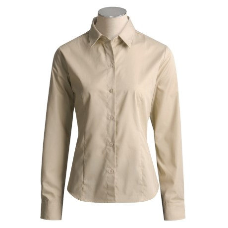 Hawksley & Wight Poplin Shirt - Long Sleeve  (For Women)